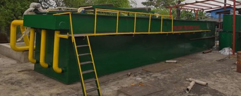 Sewage treatment equipment installed and successfully tested